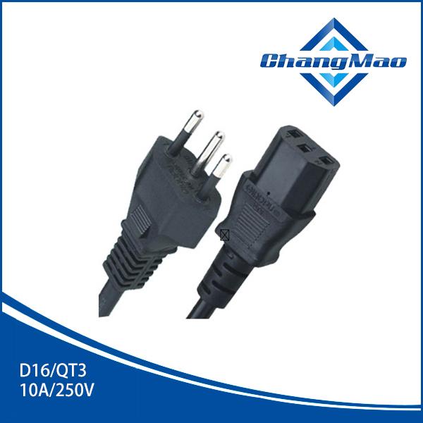 三相插头巴西UC-D16/QT3